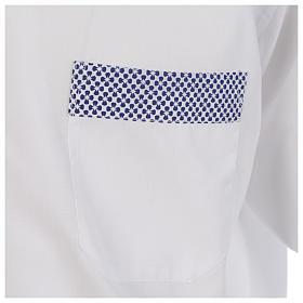 Camisa clergy sacerdote cruces blanco manga larga contraste s4