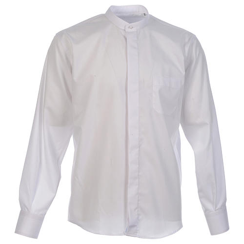 Shirt to wear under cassock covered shirt collar long sleeve 1