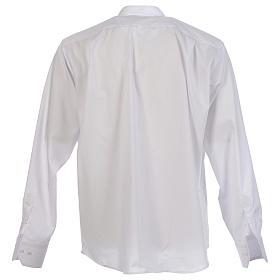Camisa clergy batina colarinho coberto manga longa s2
