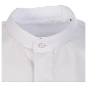 Camisa clergy batina colarinho coberto manga longa s3