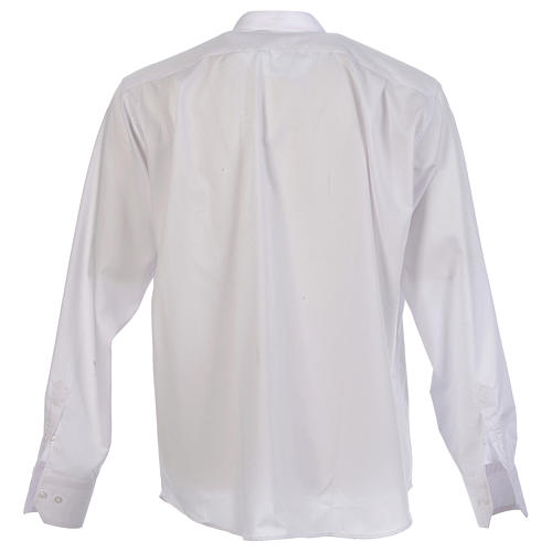 Camisa clergy batina colarinho coberto manga longa 2