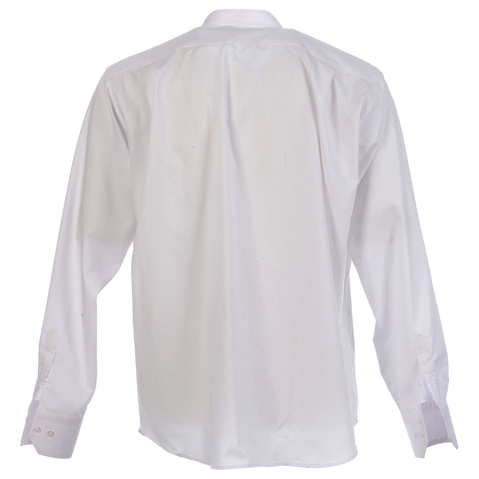 Shirt to wear under cassock covered shirt collar long sleeve 4