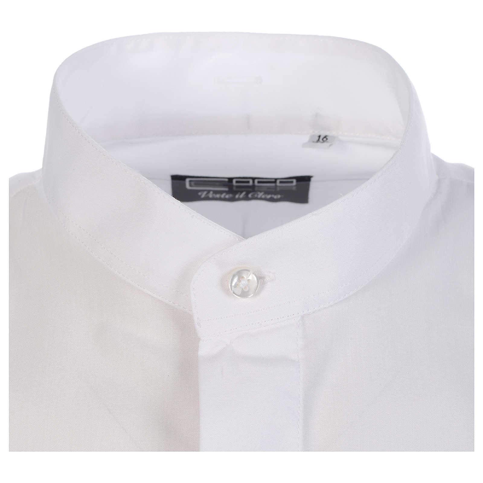 Collarhemd geeignet um unter dem Talar getragen zu werden mit offenen Kragen Langarm 4