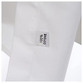 Camisa clergy sacerdote hábito talar cuello abierto manga larga s4