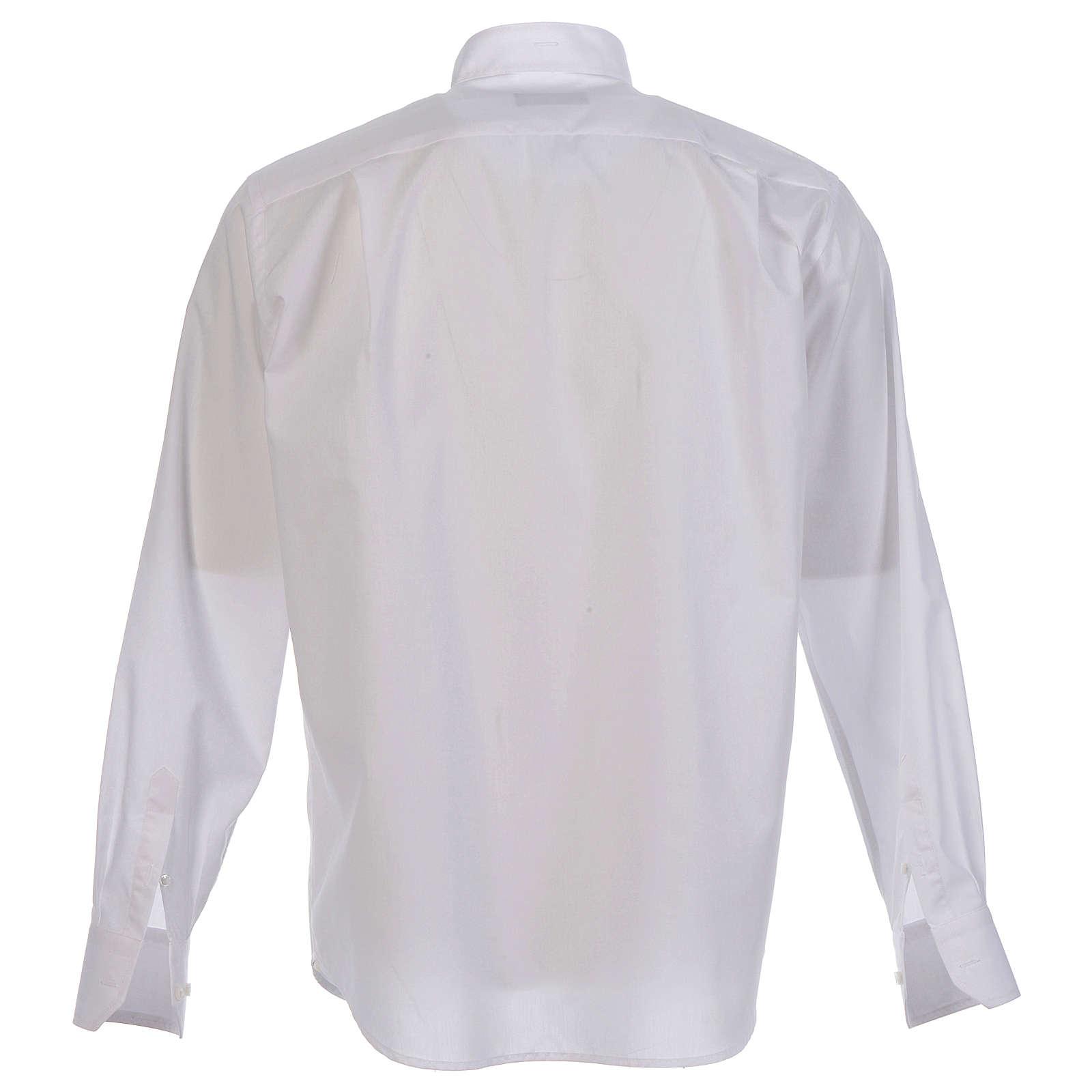 Camicia clergy sotto talare collo aperto manica lunga 4