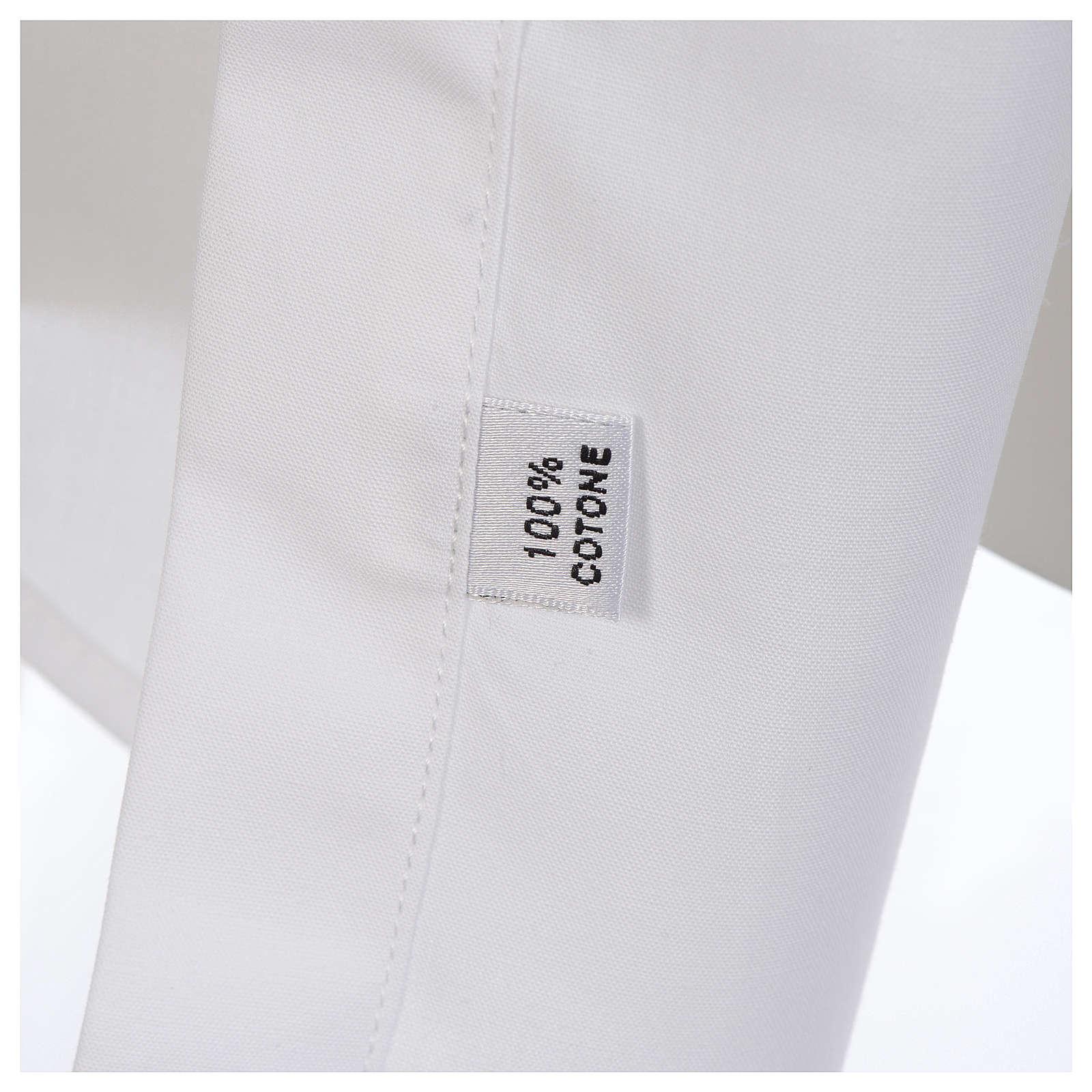 Camisa clergy batina colarinho aberto manga longa 4