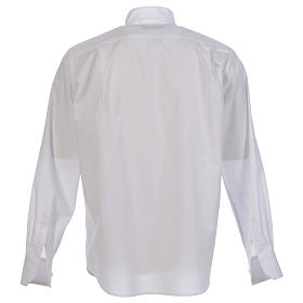 Camisa clergy batina colarinho aberto manga longa s2