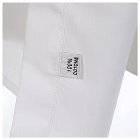 Camisa clergy batina colarinho aberto manga longa s4