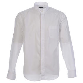 Under Cassock Shirt with open shirt collar long sleeve s1