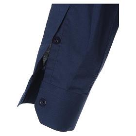 STOCK Chemise clergyman manches longues mixte bleu s3