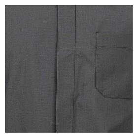 Camisa cuello romano Gris Oscuro de un solo color M. Larga s2