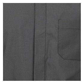 Camicia collo romano Grigio Scuro tinta unita M. Lunga s2