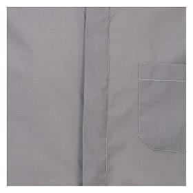 Camicia collo romano Grigio Chiaro tinta unita M. Lunga s2