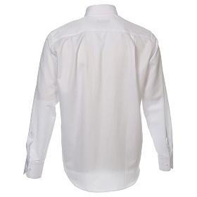 Camicia clergyman diamantino bianco seta M.L. s2