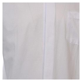 Camicia clergyman diamantino bianco seta M.L. s3