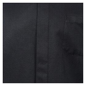 Camisa clergy diamantino nero seda Manga Larga s2