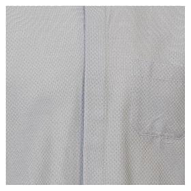 Chemise clergy coton Marangel bleu ciel Manches Longues s2