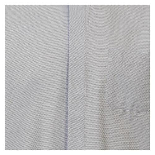 Chemise clergy coton Marangel bleu ciel Manches Longues 2