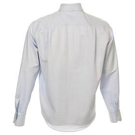 Camicia clergy cotone Marangel celeste Manica Lunga s3