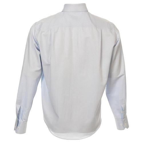 Camicia clergy cotone Marangel celeste Manica Lunga 3