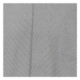 Collarhemd, Schachbrettmusterung, Baumwoll-Polyester-Mischgewebe, Farbe grau, Langarm s2
