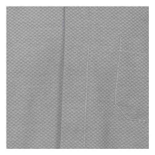 Collarhemd, Schachbrettmusterung, Baumwoll-Polyester-Mischgewebe, Farbe grau, Langarm 2
