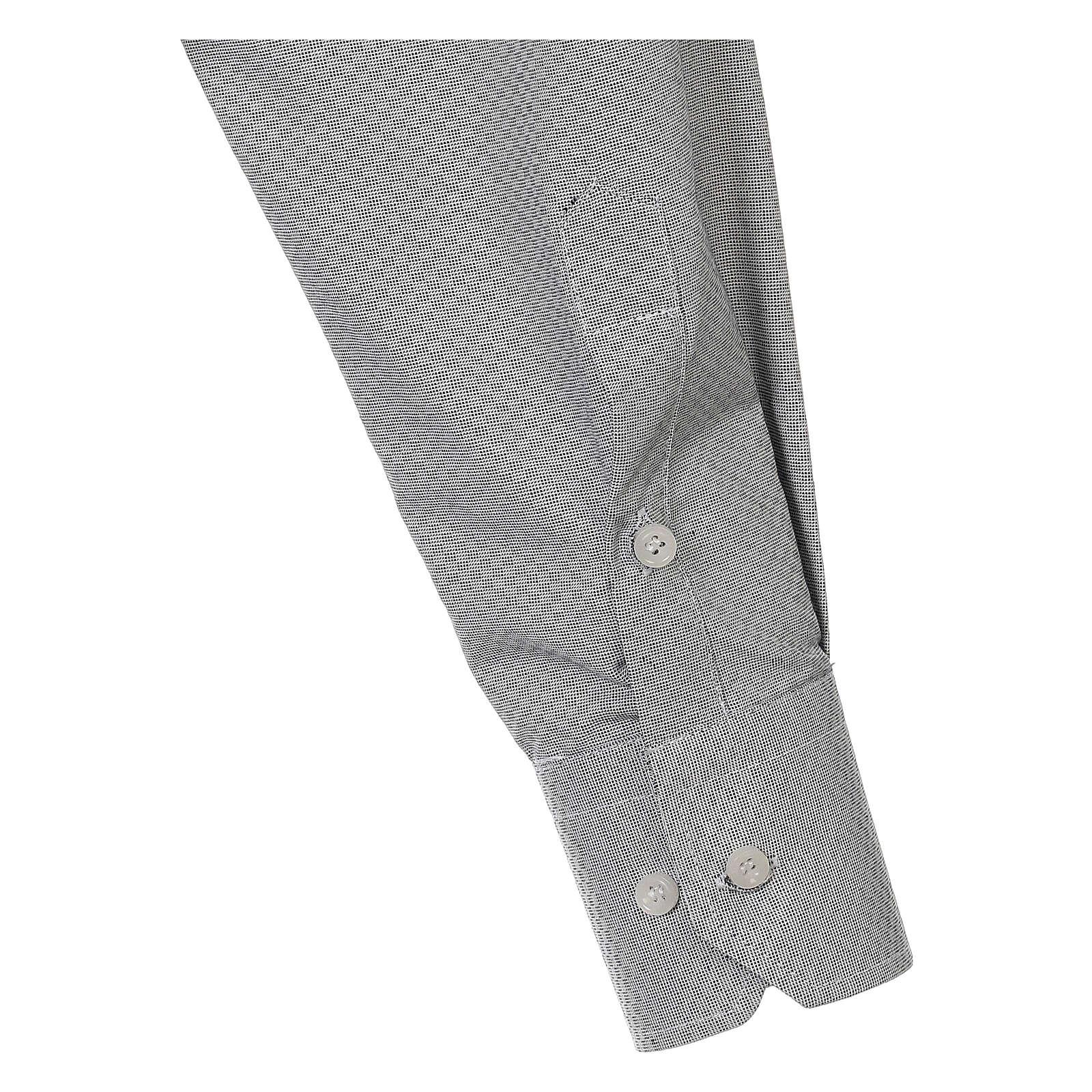 Camisa clergy algodón Marangel gris M. Larga 4