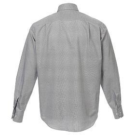 Camisa clergy algodón Marangel gris M. Larga s3