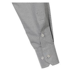 Camisa clergy algodón Marangel gris M. Larga s4