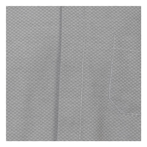 Camisa clergy algodón Marangel gris M. Larga 2