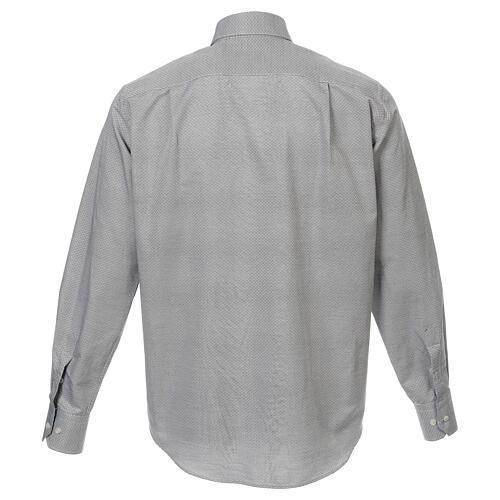 Camisa clergy algodón Marangel gris M. Larga 3