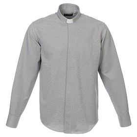 Chemises Clergyman: Chemise clergy coton Marangel gris Manches Longues