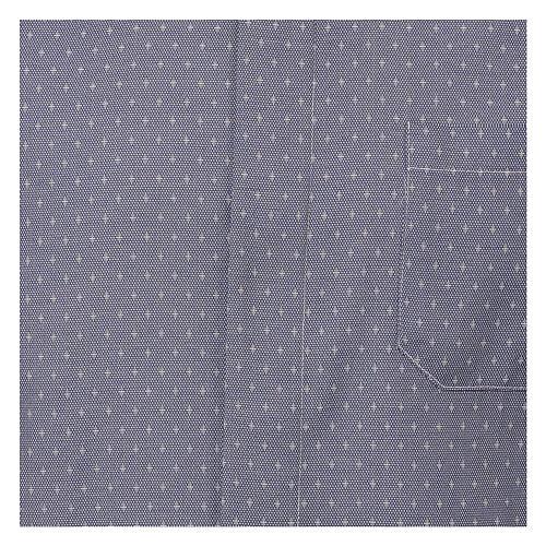 Camisa sacerdote tecido cruzes azul escuro M/L 2