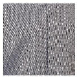 Camicia clergyman seta grigio nido d'ape M. Lunga s2