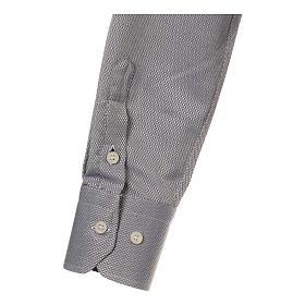 Camicia clergyman seta grigio nido d'ape M. Lunga s4