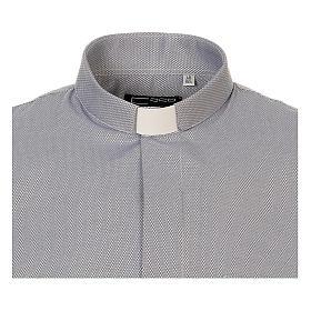 Camicia clergyman seta grigio nido d'ape M. Lunga s5