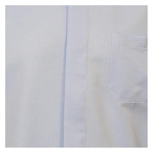 Camisa clergyman seda celeste nido de abeja M. Larga 2