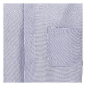 Camisa cuello clergy celeste manga corta s3