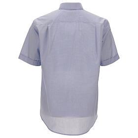 Camisa cuello clergy celeste manga corta s4