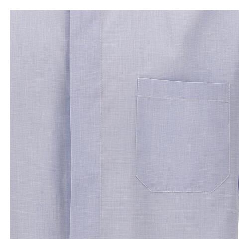 Camisa cuello clergy celeste manga corta 3