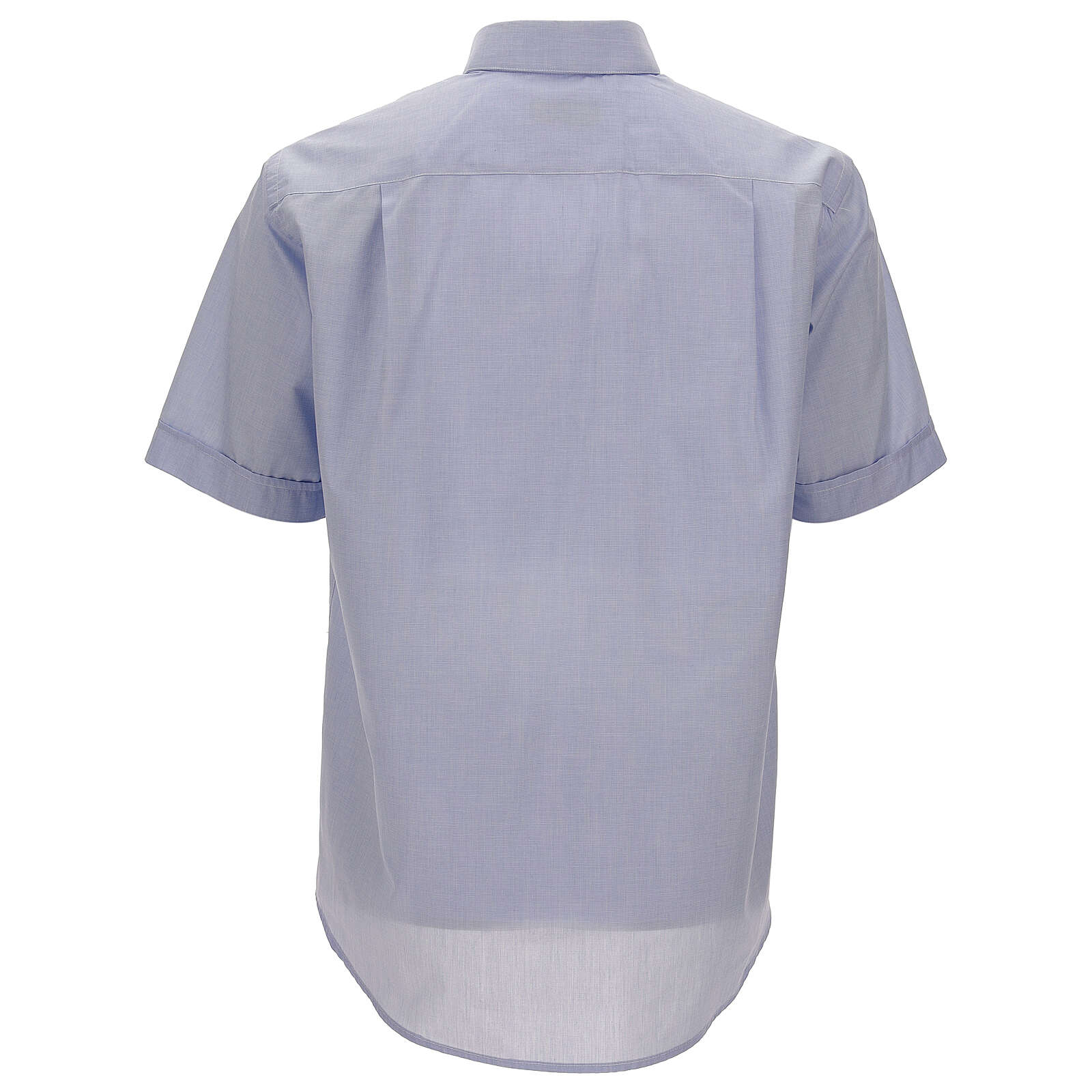 Camisa colarinho clergy azul-celeste filafil manga corta 4