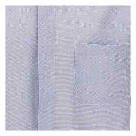 Camisa colarinho clergy azul-celeste filafil manga corta s3