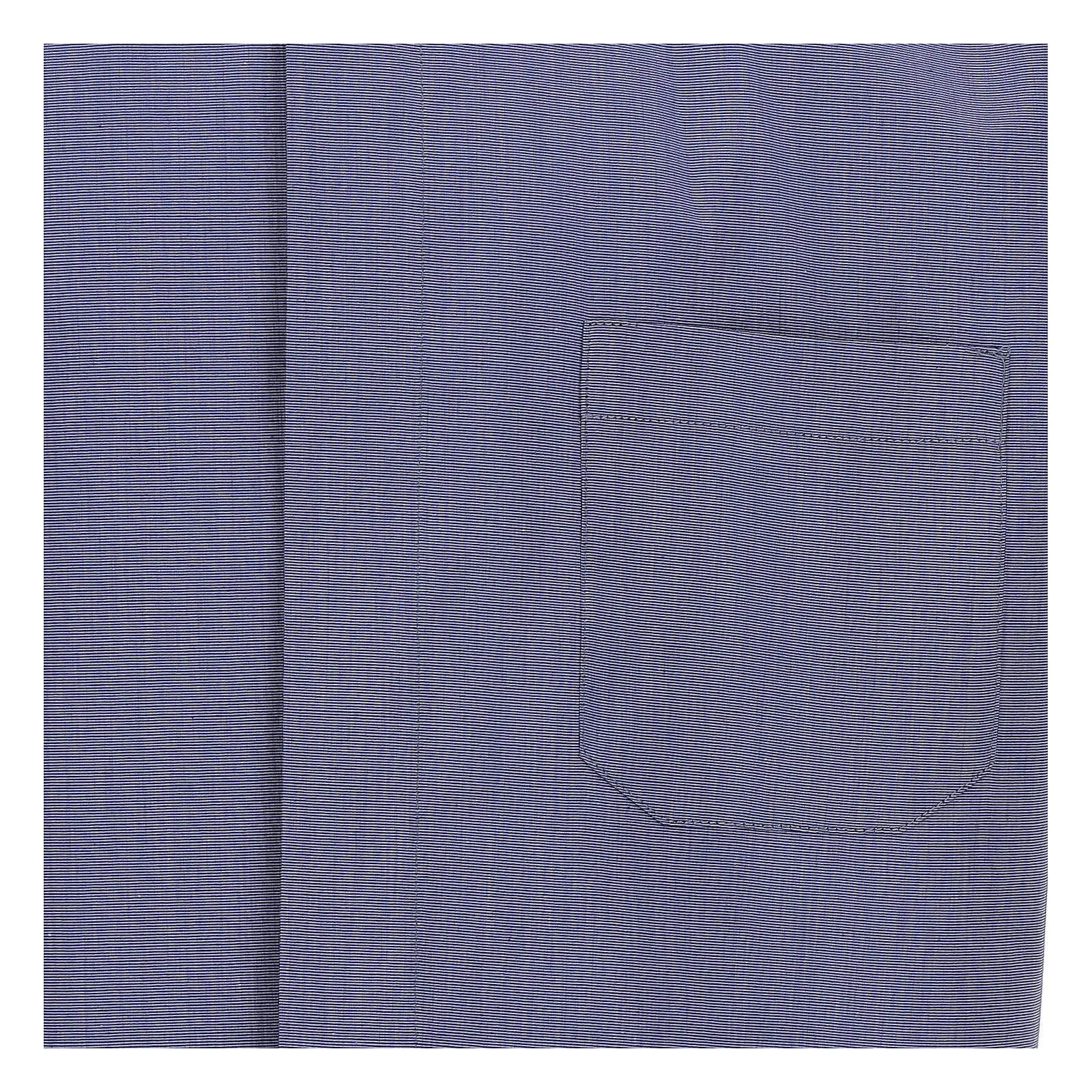 Chemise col clergy bleu fil à fil manches courtes 4