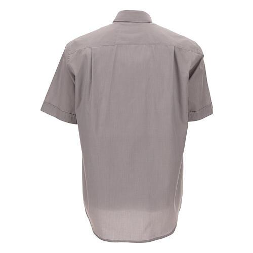 Camisa clergy gris claro m. corta 4