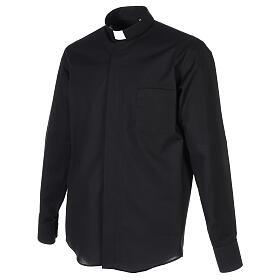 Camisa cuello clergy negro Manga Larga s3