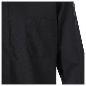 Camisa cuello clergy negro Manga Larga s4