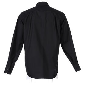 Camisa cuello clergy negro Manga Larga s7