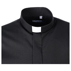 Camisa clergy Negro Media Manga s5