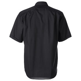 Camisa clergy Negro Media Manga s6