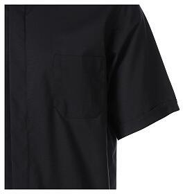 Camicia clergy fil a fil Nero Mezza Manica  s4